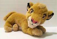 Disney The Lion King Simba Cub Plush Toy Stuffed Animal Laying Down 15""