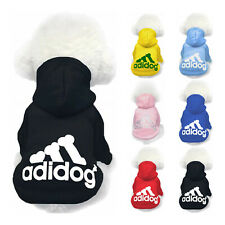 Adidog Dog Hoodie 2 Legs Jumpsuit Puppy Hoodies Coat Sweatshirt Sports Outfits