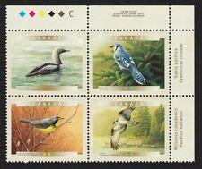 OSPREY, BLUE JAY, LOON, WARBLER = BIRDS = Canada 2000 #1842a MNH UR PLATE Block