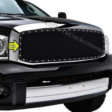 For 2006 2007 2008 DODGE Ram 1500/2500/3500 REPLACEMENT Black Mesh Grille Studs