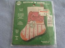 New listing Nmi Stitch 'N Stuff Counted Cross Stitch Kit, Rabbit On The Stocking