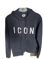 Felpa Zip Dsquared Small Blue Men Retail Price €540 Icon