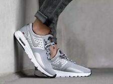 *New* Nike Air Max Zero QS Metallic Silver 863700-002 Women's Shoes Size 8
