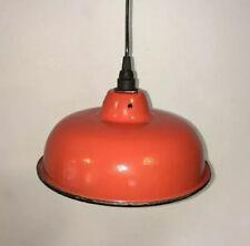 Ancienne Lampe Abat-Jour Atelier Art Déco Vintage Industrielle Design Ancien