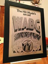 "FRAMED WABC ""MUSICRADIO"" NEW YORK CITY AM 77 RADIO STATION PROMO AD"