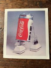 Vintage Star Wars Coke can in the shape of R2D2 Coca Cola sticker Australia