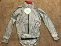 NEW - Hard to find Rosso Corsa Castelli Men's Tempesta Cycling Jacket Medium