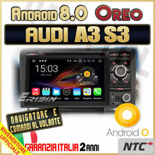 """AUTORADIO 7"""" Android 8.0 DVD OctaCore 4gb 32GBgb AUDI A3 S3 RS3 Wifi DAB DTV ..."""