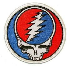 """(F) SMALL Grateful Dead STEAL YOUR FACE 1-7/8"""" iron on patch (PH107) ©GDP"""