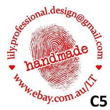 Personalised Custom Self inking Pre inked Address Wedding Stamps Round 40mm C5