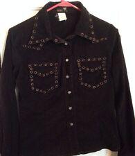 Buffalo By David Bitton Black Rockabilly  Shirt With Grommets Small Western