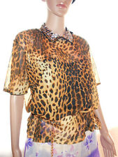 Michelle Womens Evening Party Lace Animal Print Sexy Tunic Blouse sz 20 3XL P38