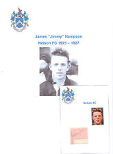 JIMMY HAMPSON NELSON 1925-1927 EXTREMELY RARE ORIGINAL HAND SIGNED CUTTING/CARD