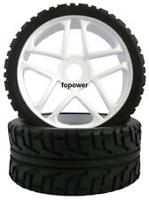 RC 4pcs Sponge Liner Tyre Tires & Wheel Rim Fit HSP 1:8 Off-Road Buggy 85W-803