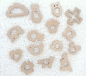 Unfinished Wooden Animal Shapes Baby Toys Handmade DIY