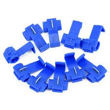 50x Blue Electrical Lock Wire Connectors Quick Splice Terminals Common Block