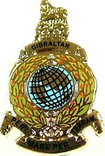 ROYAL MARINES COMMANDO CLASSIC GLOBE HAND MADE IN UK  PLATED LAPEL PIN BADGE