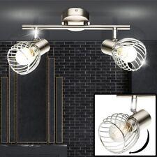 Design chrome plafonnier salon spot lampe couloir cage projecteur mobile neuf
