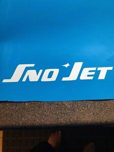 """Vintage Sno-Jet 2""""x12"""" (Copy)  New White Vinyl Sticker"""