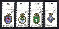 Gibraltar Michelnummer 521 - 524 (intern: Doku: 28 ) Militärwappen