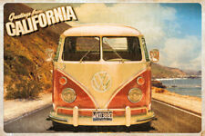 GREETINGS FROM CALIFORNIA - VW BUS POSTER 24x36 - VINTAGE 52962
