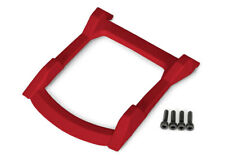 Skid plate, roof (body) (red)/ 3x12 CS (4) for Rustler 4x4 by Traxxas TRA6728R
