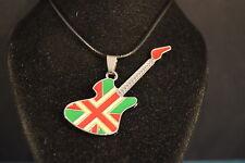 Union Jack  GUITAR PENDANT - NECKLACE  Fashion Jewelry BRAND NEW!  U.S.A. SELLER