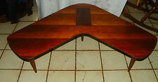 Walnut Mid Century Boomerang Coffee Table  (CS-CT64)