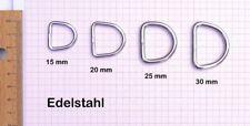100x D-Ringe Edelstahl 25 mm Durchlass (Nr.3 auf dem Bild)