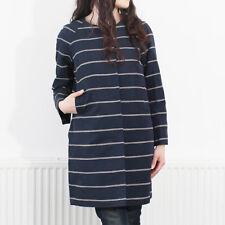 NWT 995$ Max Mara Women's Navy Girante Striped Coat Size 10 STUNNING!❤