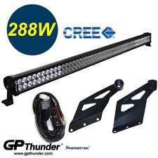 50inch STRAIGHT Off Road 288W LED Lamp Light Bar Dodge Ram 02-09 +RELAY+Bracket