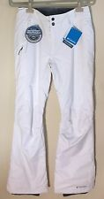Columbia Women's Bugaboo Omni Tech WaterProof White Snowboard Ski Pants Size S