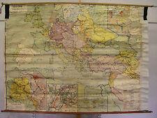 alte Schulwandkarte Der Weltkrieg 1914-1918 232x168cm vintage map WW1 1WK ~1925