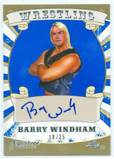 "BARRY WINDHAM ""BLUE AUTOGRAPH CARD /25"" LEAF SIGNATURE SERIES WRESTLING 2016 NWA"