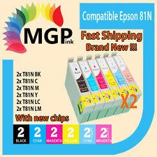 12x Generic ink cartridge 81/81N 82N for Epson Stylus R290 R390 RX590 RX610 T50