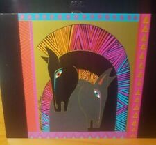 """Laurel Burch """"Embracing Horses"""" Note Card With Envelope, blank inside"""
