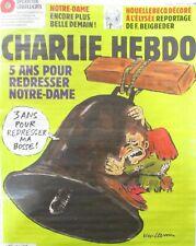 CHARLIE HEBDO N° 1396 de AVRIL  2019 CLOCHE NOTRE DAME DE PARIS QUASIMODO MACRON
