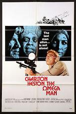 THE OMEGA MAN CHARLTON HESTON FUTURISTIC SCI-FI 1971 1-SHEET