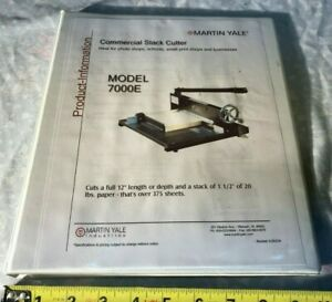 Martin Yale 7000E Stack Cutter Instruction Manual