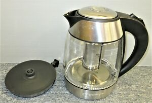 Chefman Electric Cordless Glass Kettle with Removable Tea Infuser 1.8 Liter