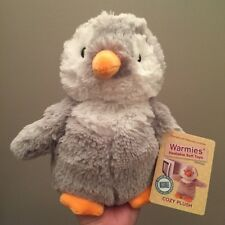 Warmies Gray Penguin Large Cozy Plush Children's Heating Pad Cold Pack CP-PEN-4