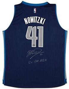 "DIRK NOWITZKI Autographed Mavericks ""12x All NBA"" Swingman Jersey UDA LE 1/10"