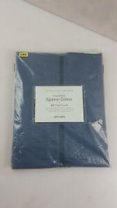 400 Thread Count Crisp & Fresh Egyptian Cotton Flat Sheet, Single Navy Blue