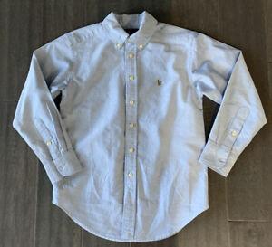 Boys POLO RALPH LAUREN Long Sleeve Oxford Size 8- Blue