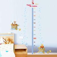 Winnie The Pooh Height Chart Removable Wall Stickers Nursery Boys Kids Art Decor