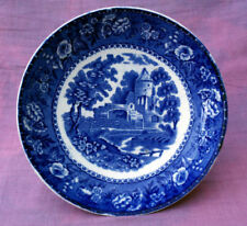 Blue & White Transfer Ware Earthenware Date-Lined Ceramic Bowls