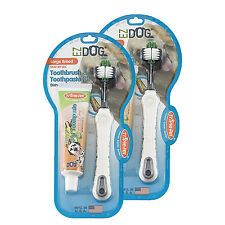 2-Pack Triple Pet EZ Dog Toothbrush & Toothpaste Kit Vanilla Mint Flavor Large