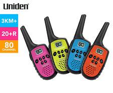 Uniden UH35-4 Mini Compact UHF Handheld Radios - Quad Colour Pack