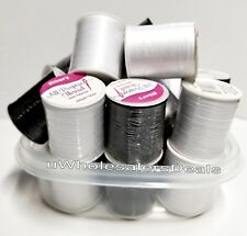 50 Spools Sewing Thread Polyester BLACK & WHITE 200 yards each Wholesale Lot