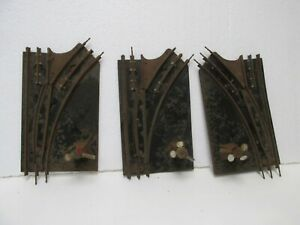 Set Of 3 Marx Left & Right Hand Manual Switch Train Track O Gauge Scale tr2228
